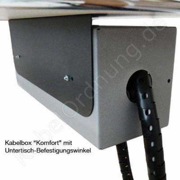 kabelordnung kabelbox komfort in verschiedenen farben. Black Bedroom Furniture Sets. Home Design Ideas